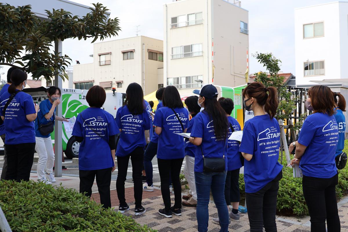 写真:A1市街地グランプリGOTSU2020のホスピタリッティボランティア